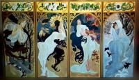 Anotimpurile – The Seasons (series) Tribute Alphonse Maria Mucha